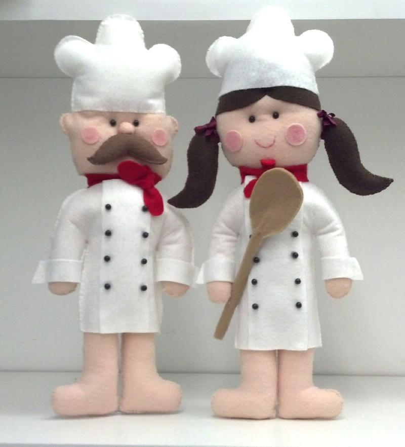 Artesanato Infantil Com Jornal ~ 23 Ideias de Artesanato com Feltro para Cozinha Artesanato Passo a Passo!