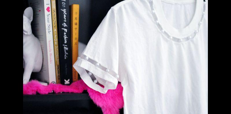 Dicas de Artesanato com Pérola em Blusas