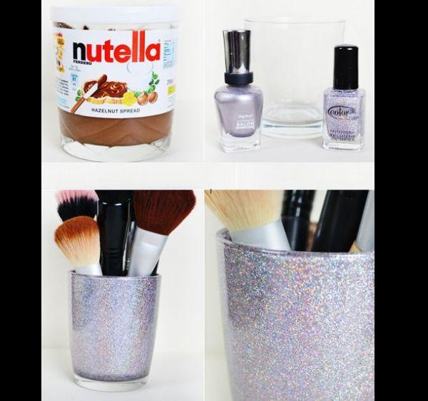Dicas de Artesanato com Pote de Nutella