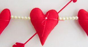 Artesanato para Dia dos Namorados em Feltro