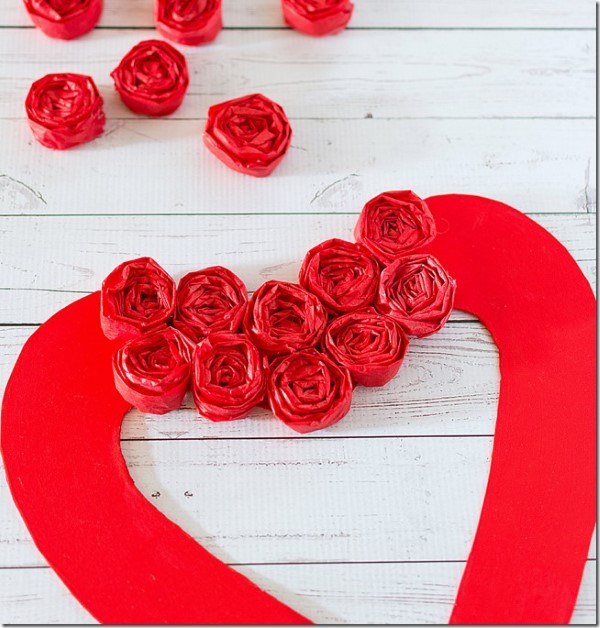 dica coração de papel para decoração