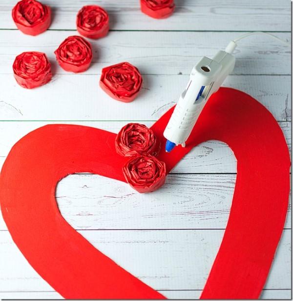 ideia para fazer coração de papel para decoração