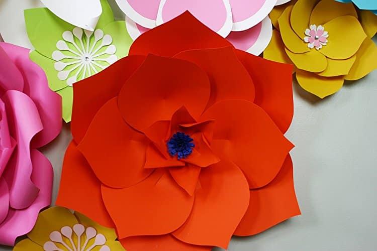 rosa papel crepom