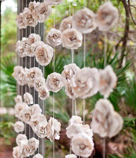 flor de papel crepom para festa junina