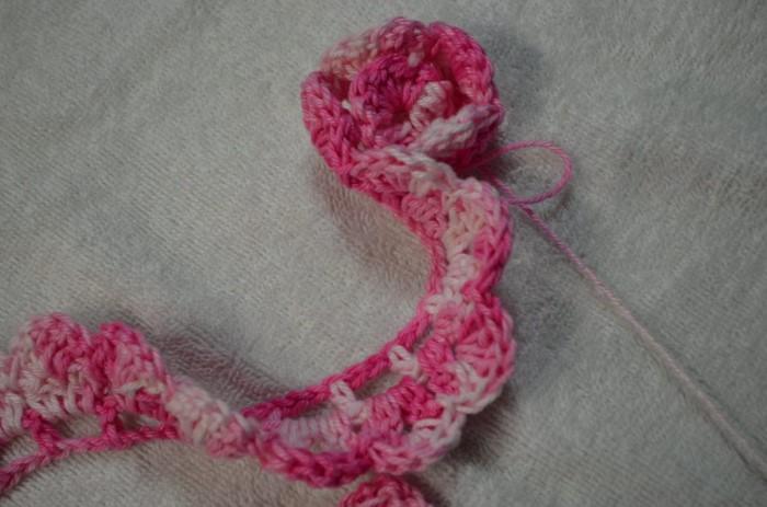 Passo a passo de flor de crochê simples
