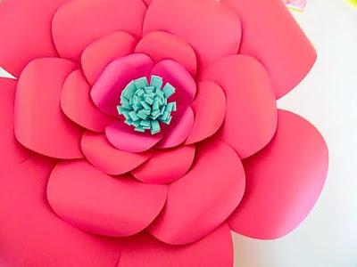 flor de papel A4 passo a passo