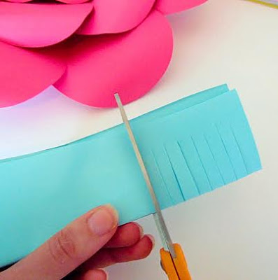 passo a passo flores de papel