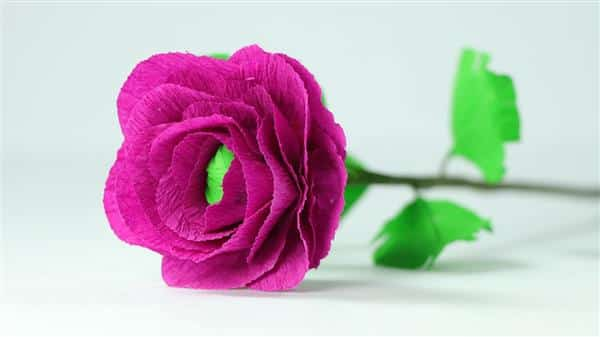 flores de papel crepom para casamento