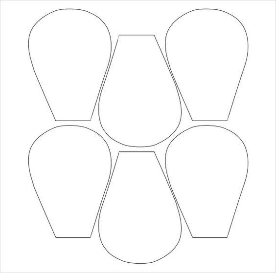 molde de petala de flor de papel
