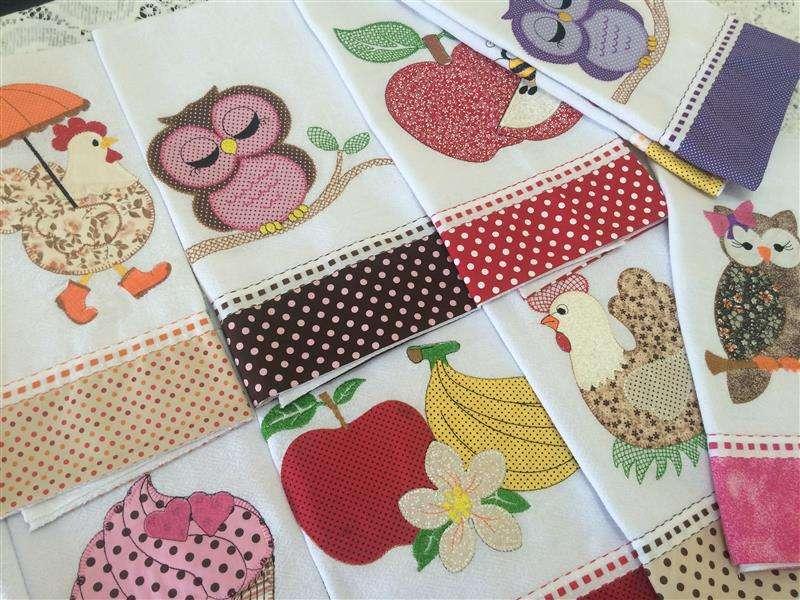 Artesanato Brasileiro Comprar ~ Artesanato patchwork para pano de prato 20 ideias Artesanato Passo a Passo!