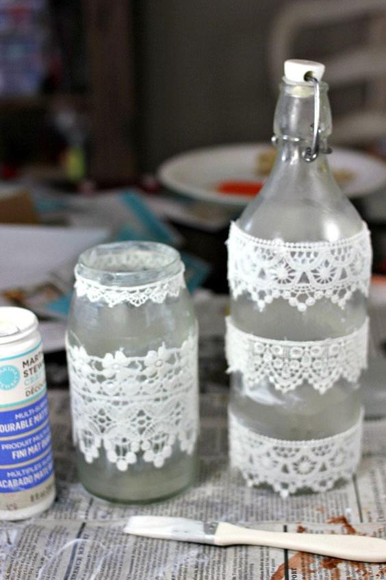 garrafa decorada opaca