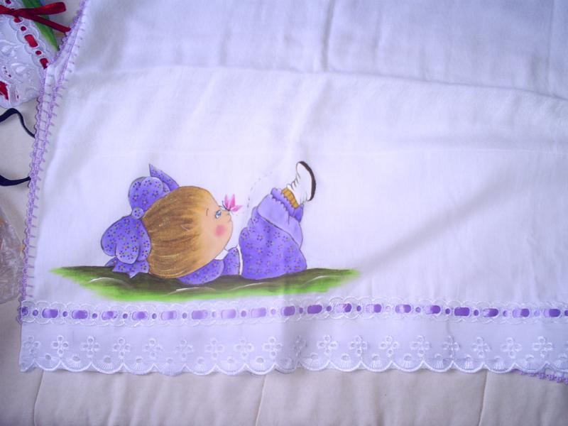0d55a38878 Pintura em Fraldas de Bebê  50 Ideias Incríveis - Artesanato Passo a ...
