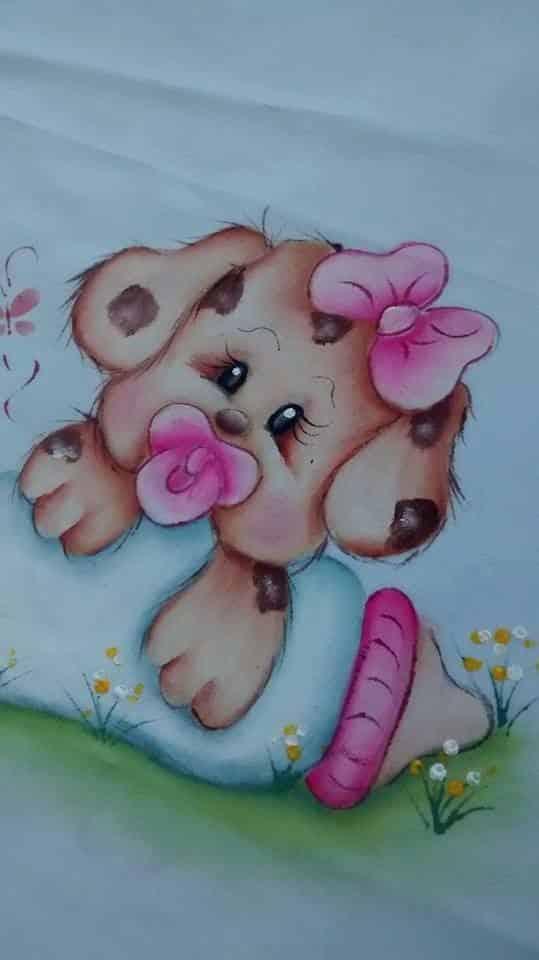 Pintura de fralda para menina
