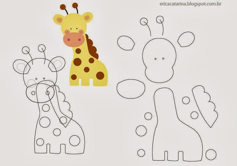 molde de girafa