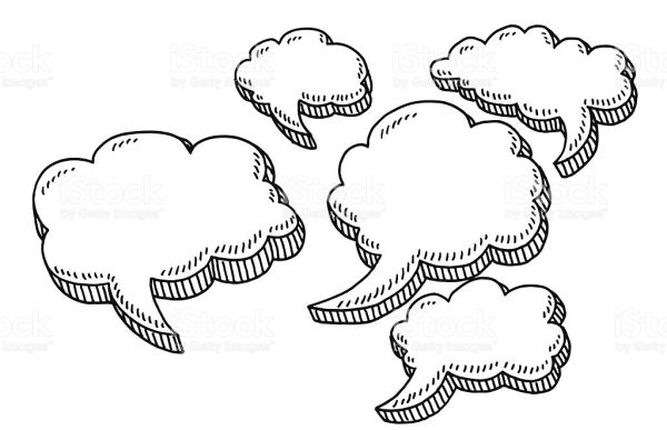 nuvem de diálogo