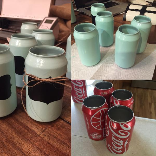 vasinho de latinha de refrigerante