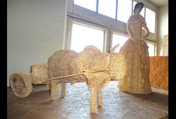 carro de boi de bucha vegetal