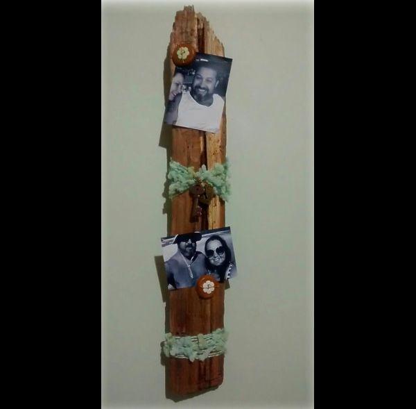 porta retrato de tronco