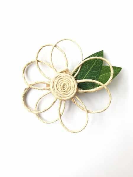 Flor simples de sisal