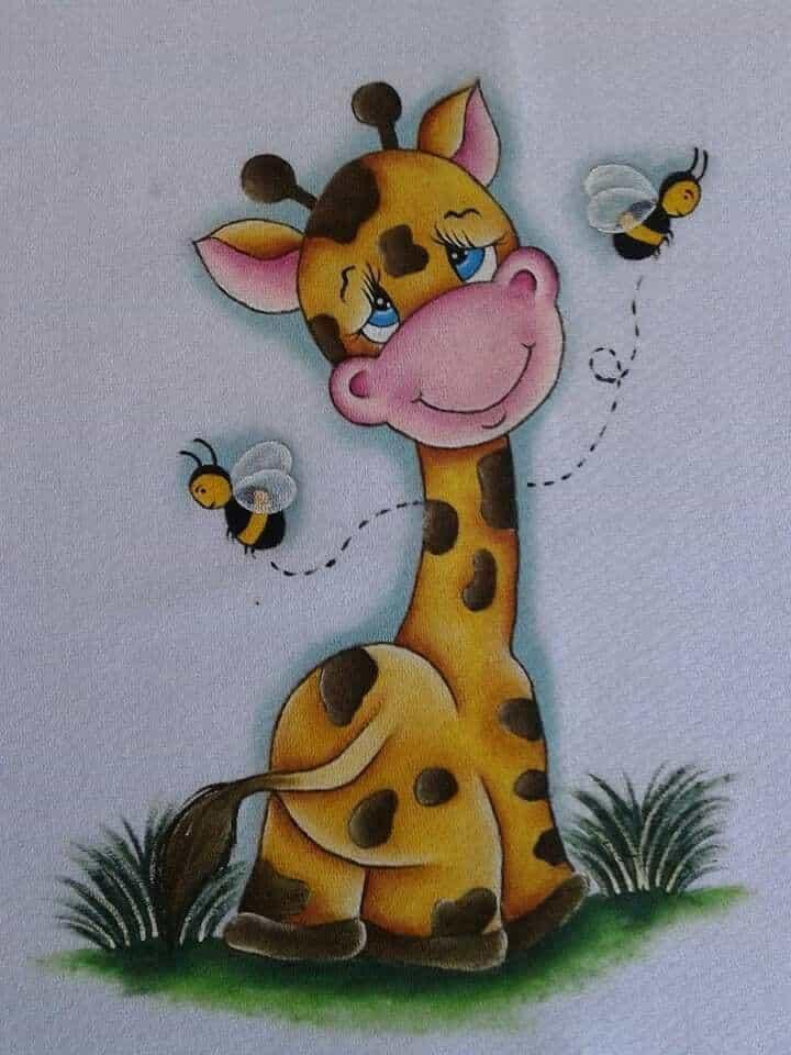 Fralda de bebe girafinha