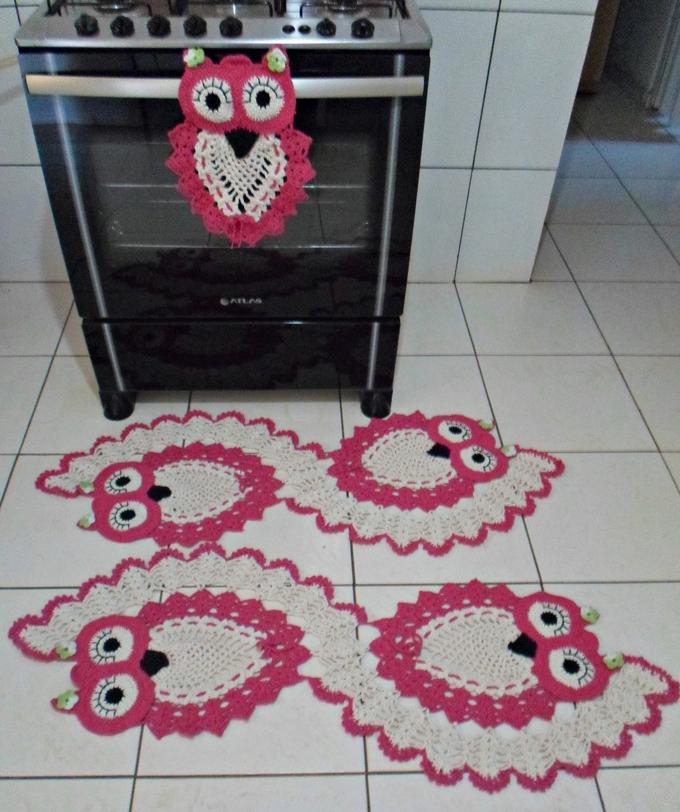 peças em crochê para cozinha