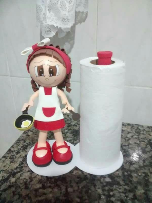 porta papel-toalha em EVA