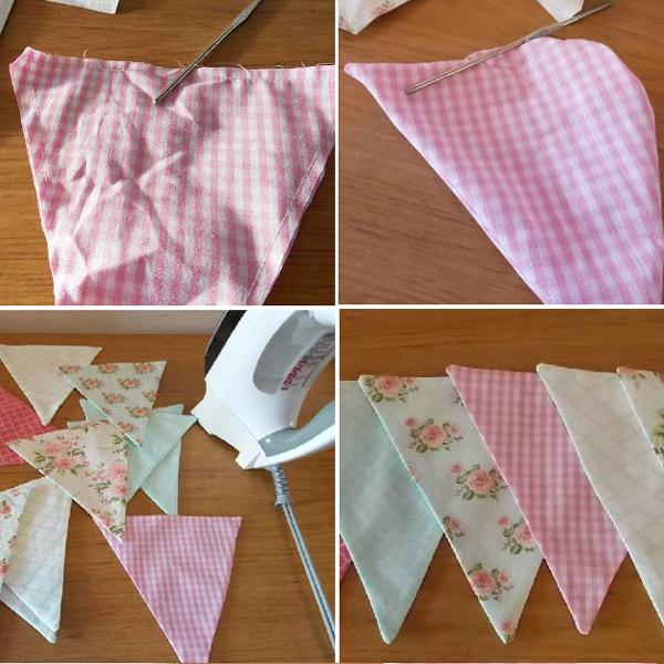 Fabuloso Como Fazer Bandeirola de Tecido - Artesanato Passo a Passo! AP32