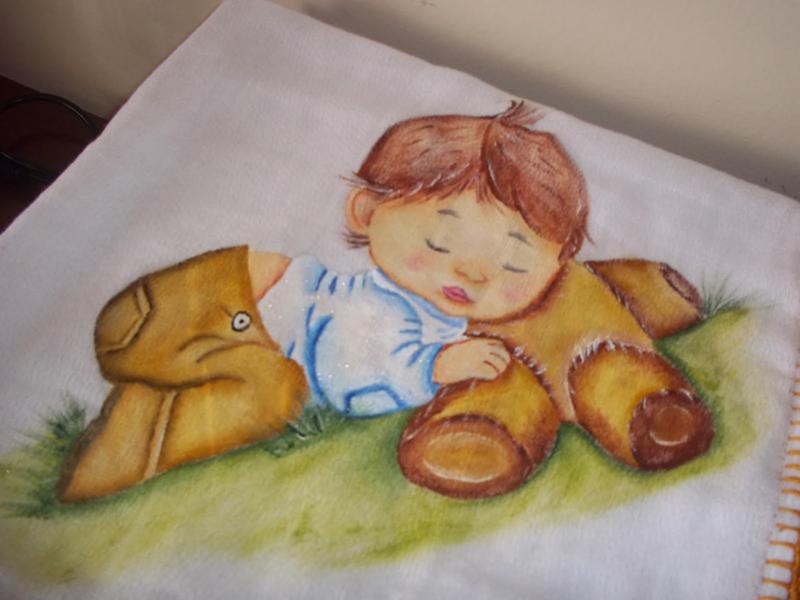 fralda pintada menino