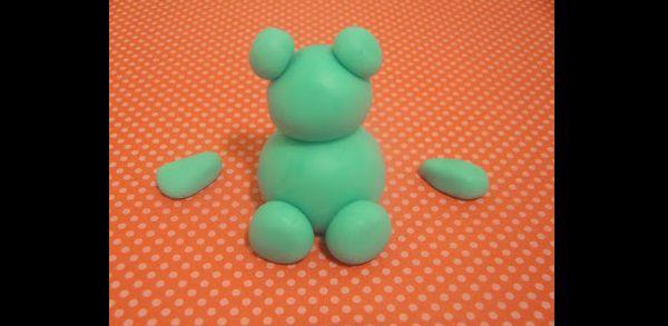 massa de biscuit corpo do ursinho