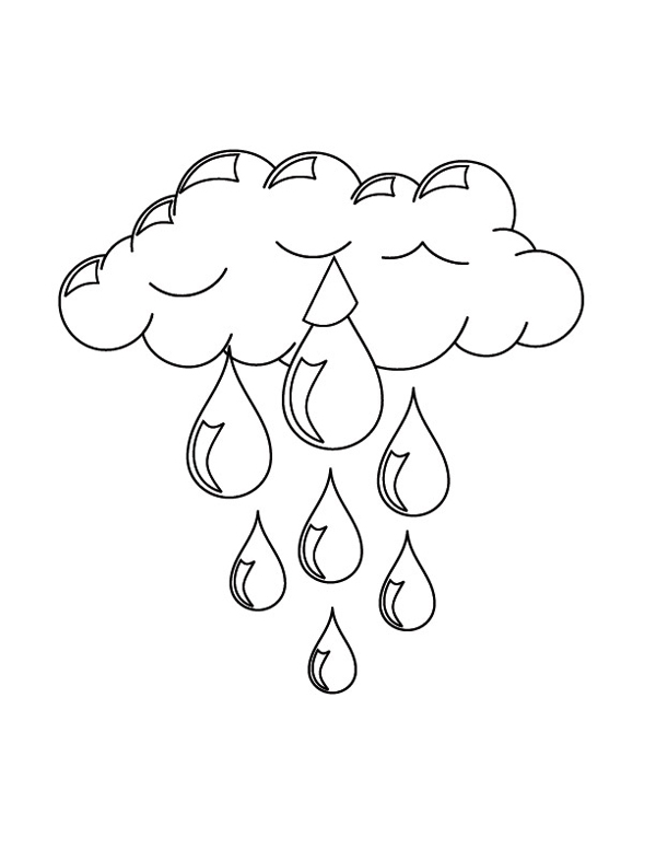 desenho de nuvem com chuva