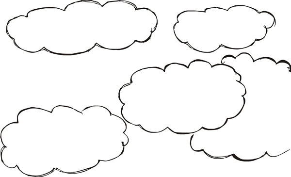 nuvens para imprimir