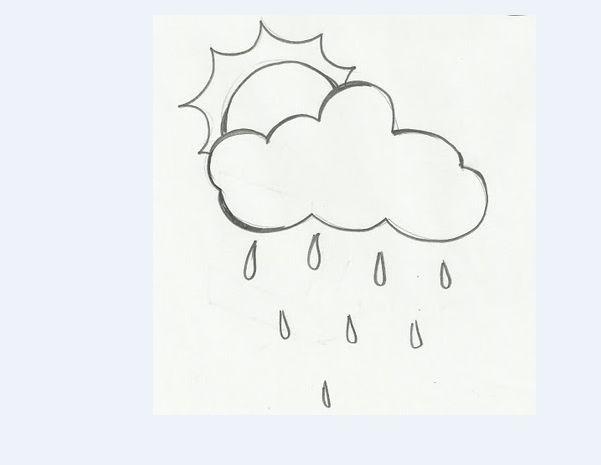 molde de sol com nuvem