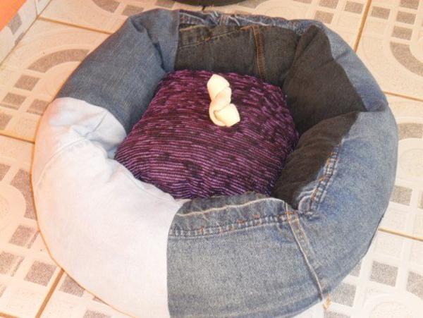 caminha de cachorro de tecido