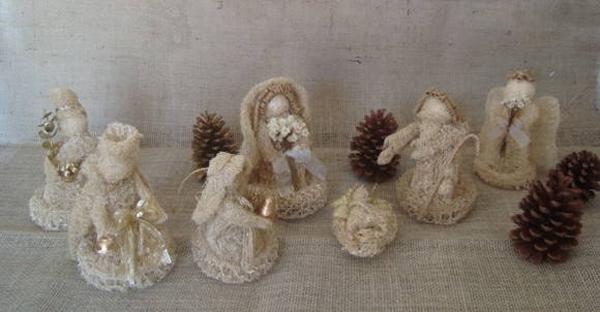 decoração de Natal com bucha vegetal
