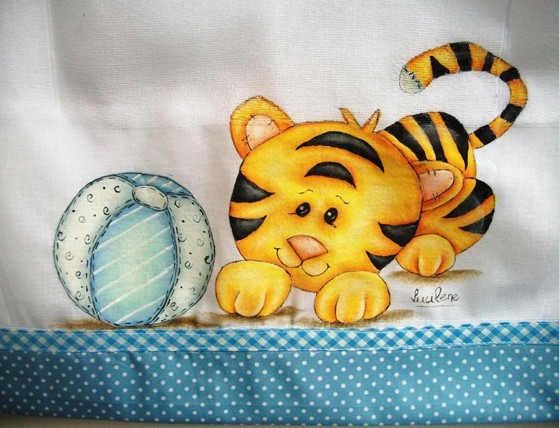 fralda pintada tigre