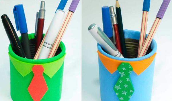 porta-lápis para dia dos pais