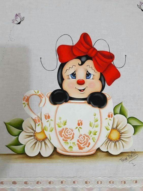 Pintura abelhinha para menina