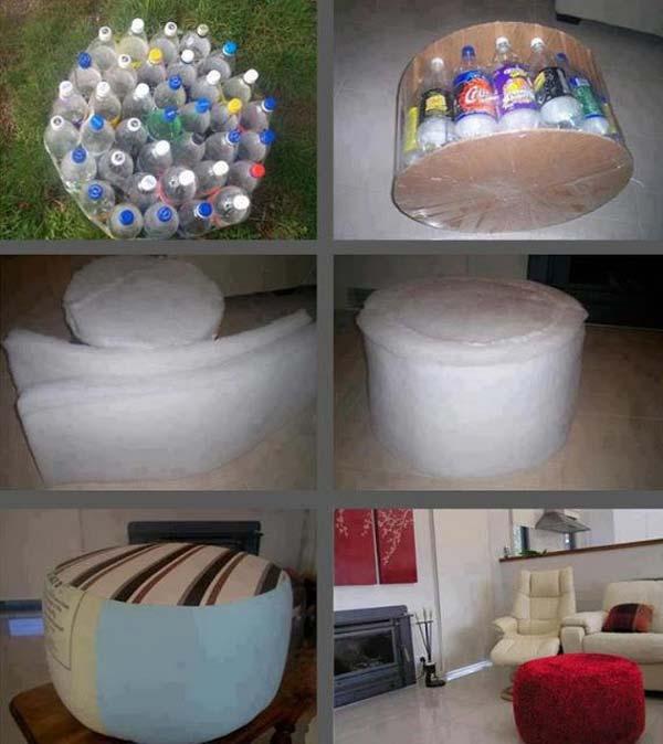 mesinha de garrafa pet