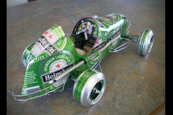 carrinho de latinha de alumínio