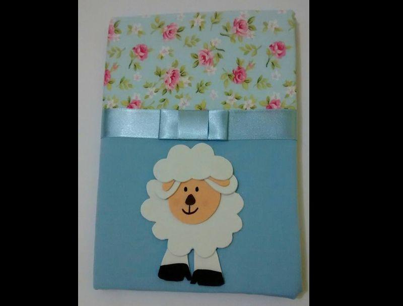 caderno com eva de ovelha