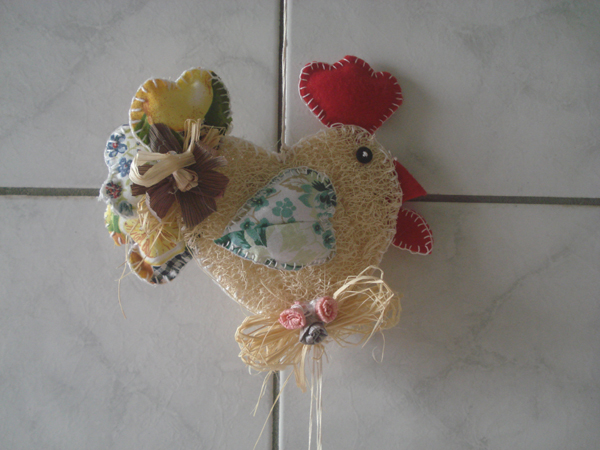 galinha de bucha vegetal