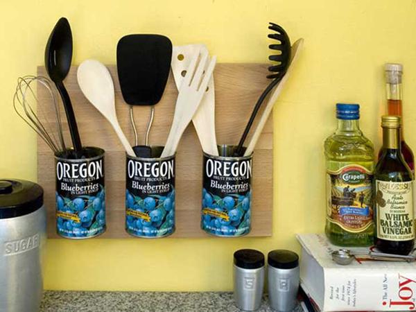 decoração de cozinha com lata