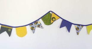 cordão com bandeirinhas de festa junina