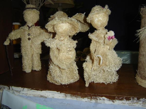 enfeites de bucha vegetal