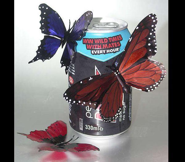 borboletas de latinha de cerveja