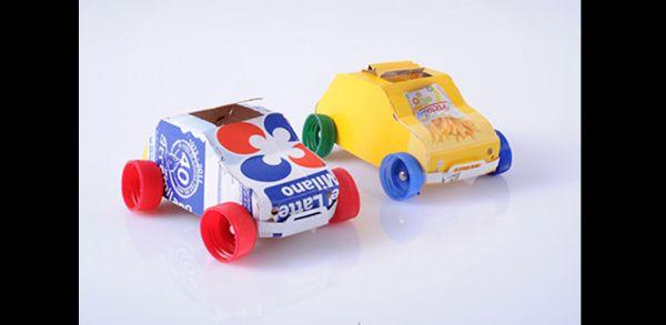 carrinhos de caixa de leite
