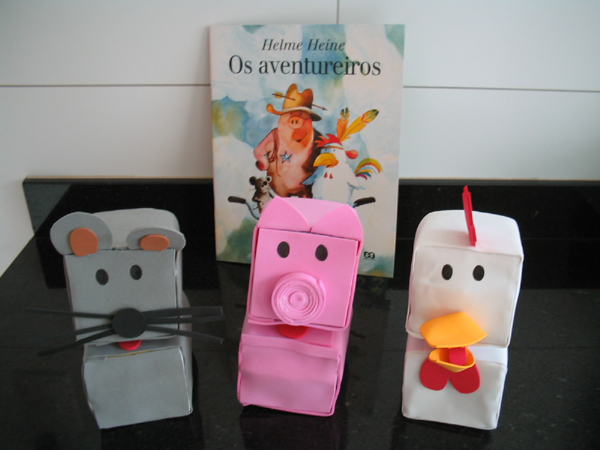 bichinhos de caixa de leite