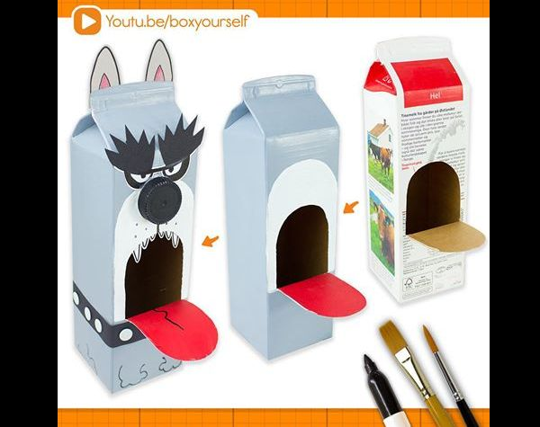 Preferência Brinquedos Reciclados com Caixa de Leite - Artesanato Passo a Passo! YY58