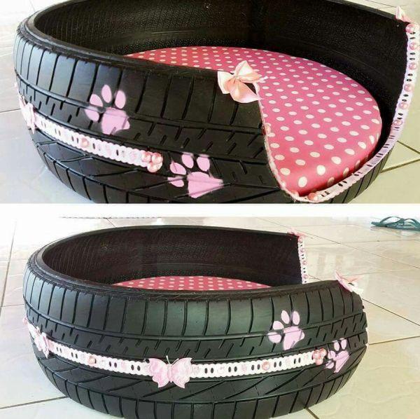 casinha de cachorro com pneu personalizado