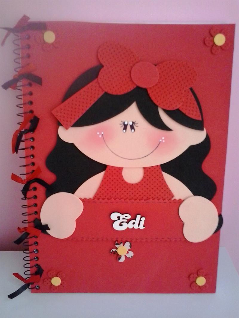 caderno com eva personalizado